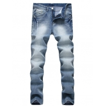 Hole high elastic Slim cotton jeans TX0703