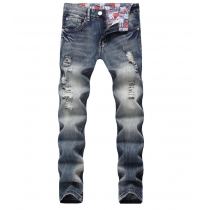 Nostalgic light straight hole jeans TX952