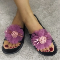 One word with cool flat flat size slippers QF2122