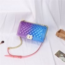 Fashionable Transparent Female Single-Shoulder Bag SL2354