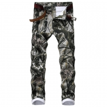 Stretch jeans camouflage pattern men's cotton stretch trousers TX15537