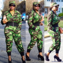 Online Sale Leisure Long Style 2 Pieces Camouflage Outfits S6190