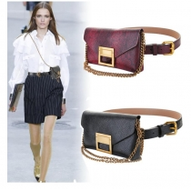 Fashion snake belt bag women's casual clothing with diagonal chain belt women's belt PD996