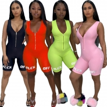 Summer new women's short offset sports jumpsuit B3053