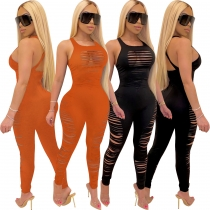 Solid color cute hot jumpsuit R6290