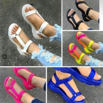 Flat size women's sandals with slippers outside HWJ104