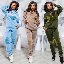 Ladies Fashion Sports Leisure Sweater Set 2-Piece Set OYW9906
