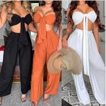 Sexy two-piece slim fit jumpsuit HC732