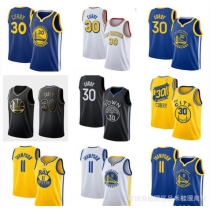 Warriors 30# Curry embroidery basketball jersey 11# Thompson jersey curry jersey P613776329310