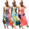 Tie-dye back strap dress YT3220