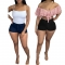 Washed single button pocket hot pants denim shorts GL6267