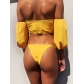 Swimsuit ladies split yellow collar bikini CSB80