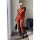 Autumn and winter solid color jumpsuits waist hips long sleeves fashion temperament women FF1047